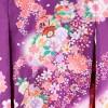 女の子用初着・産着No.24|紫地に桜・鼓・鞠・鈴
