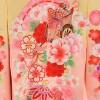 女の子用初着 ・産着No.28| 黄色にピンクの桜・手毬・御所車