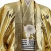 紋付袴No.218|金色 無地 対応身長 / 170cm前後