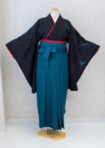 愛知県半田市卒業式用青緑色の無地袴