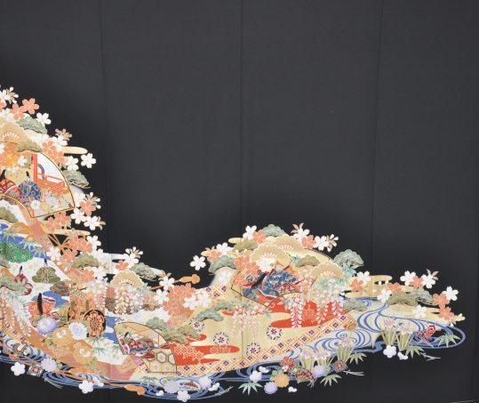 留袖No.626   源氏物語に桜 [172cmまで]