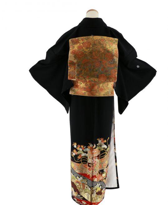 留袖No.632 [JAPAN STYLE]貝桶に熨斗 [162cmまで]