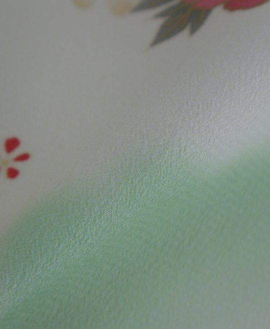 訪問着No.609 [JAPAN STYLE]クリームに黄緑松竹梅[167cmまで]
