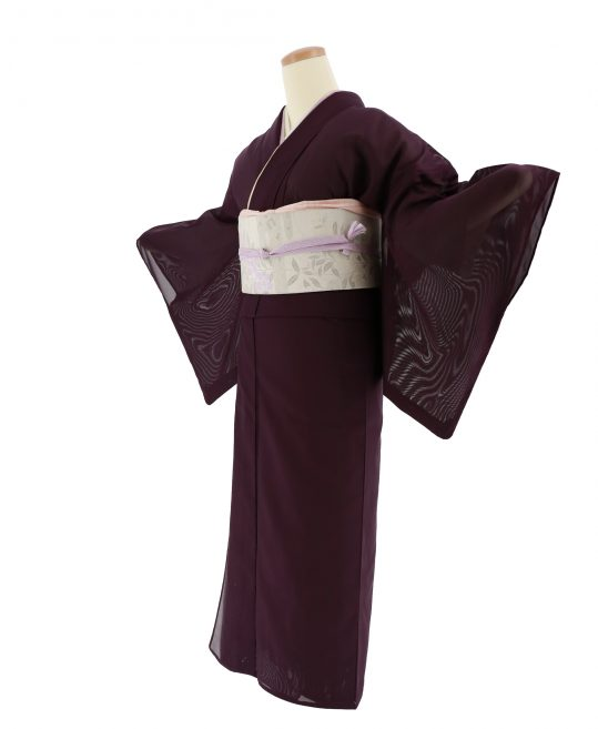 真夏用色無地【7・8月用・絽】濃い紫[身長159cmまで]No.61