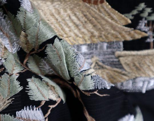 真夏用留袖【7・8月用・絽】若松・総刺繍[身長155cmまで]No.66