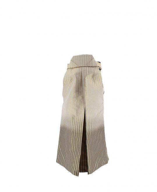 ジュニア・小学生用袴単品No.21|ゴールド 銀・黒グラデストライプ 対応身長 /155〜160cm