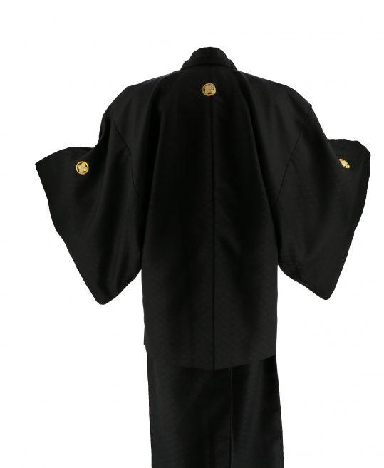 ジュニア・小学生用紋付単品No.2|黒 花菱 対応身長 /155〜165cm
