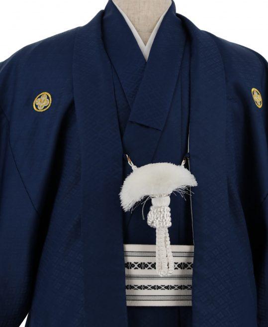ジュニア・小学生用紋付単品No.5|青 花菱 対応身長 /155〜165cm