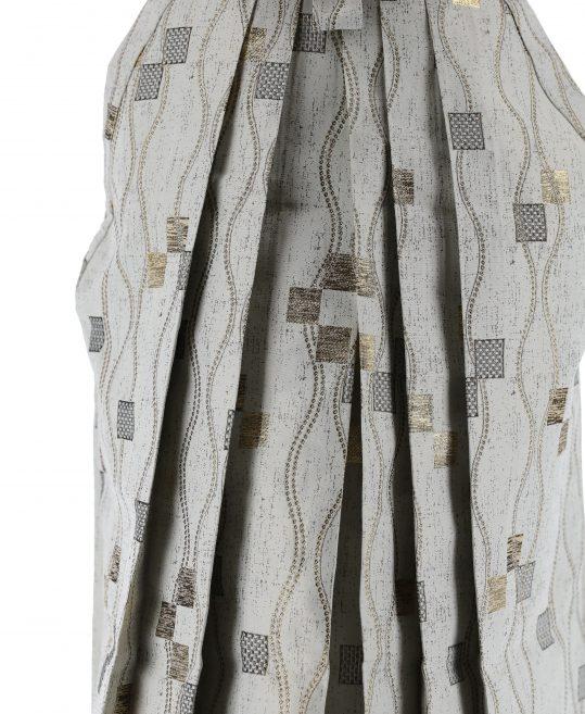ジュニア・小学生用袴単品No.8|グレー・金・銀 四角・立涌 対応身長 /160〜165cm