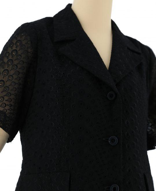 レディース喪服・ブラックフォーマルNo.33 【夏物】 ジャケット+スカート[13号サイズ]