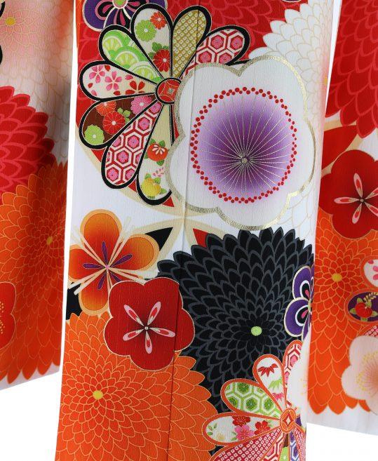 参列振袖[JAPAN STYLE][レトロモダン]白に菊と梅[身長162cmまで]No.15