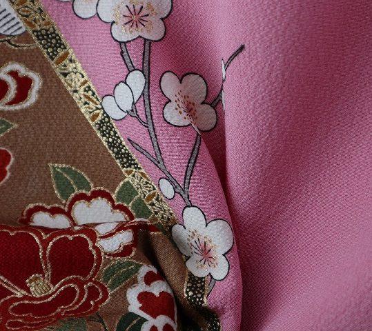 参列振袖[古典柄]ピンクに牡丹と貝桶[身長159cmまで]No.545
