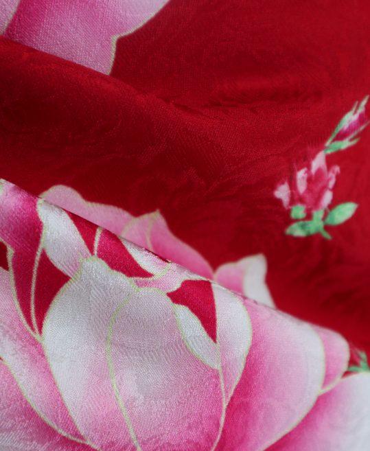 振袖[ガーリー]赤×ピンク・バラ[168cmまで]