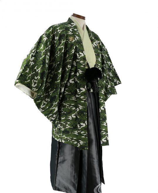 紋付袴No.217|緑色 遊助 ブランド 対応身長 / 175cm前後