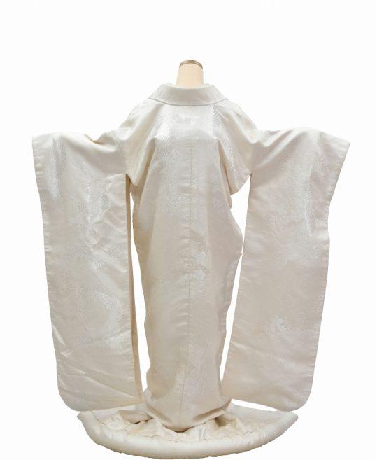 結婚式の白無垢・花嫁用着物|鶴に流水と花 [王道古典] No.313