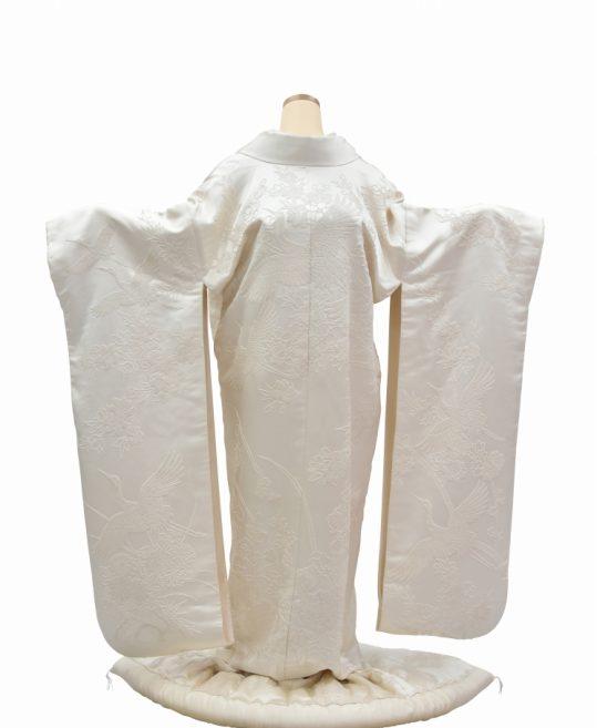 結婚式の白無垢・花嫁用着物|相楽刺繍で花と鶴 [ゴージャス] No.314