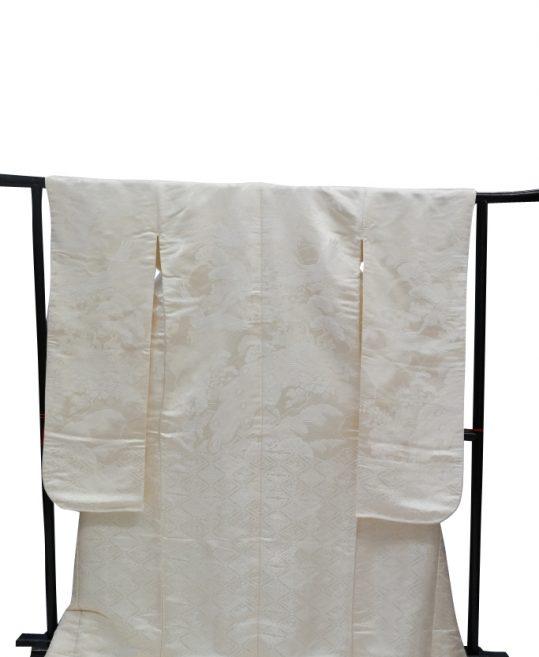結婚式の白無垢・花嫁用着物|鶴と孔雀に花々・ひし形 [ゴージャス] No.319