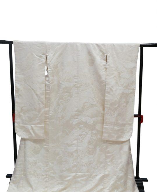 結婚式の白無垢・花嫁用着物|鶴と孔雀に花々 [王道古典] No.328